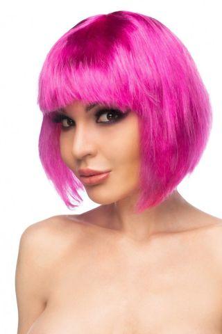 Ярко-розовый парик