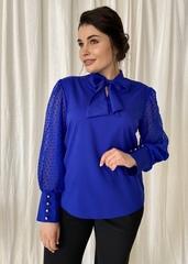 Мілена. Вишукана блуза з оригінальним рукавом. Електрик
