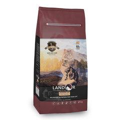 Сухой корм для взрослых домашних кошек, Landor Indoor Duck, с уткой