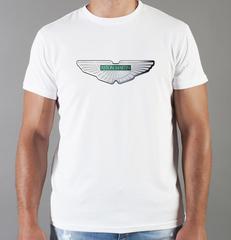 Футболка с принтом Астон Мартин (Aston Martin) белая 006