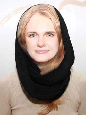 Черный шарф снуд