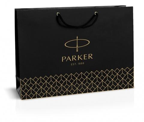 Фирменный бумажный пакет Parker под наборы, черный, 20х30см