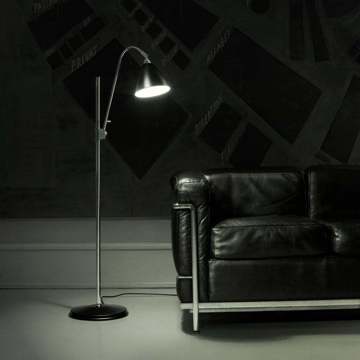 Напольный светильник копия Bestlite BL1 by Gubi (черный)