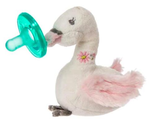 Пустышка с игрушкой - лебедь