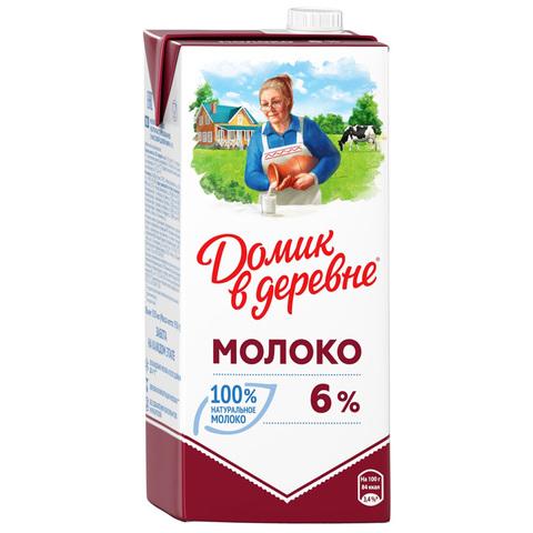Молоко ДОМИК В ДЕРЕВНЕ 6% 0,95 л т/п