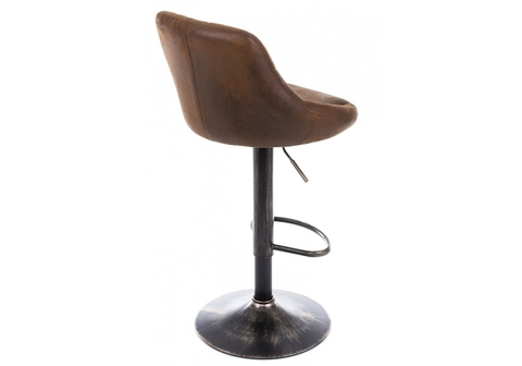 Барный стул Curt vintage brown 45*45*84 Окрашенный металл /Коричневый