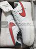 Nike Air Force 1 Low 'White/Red/Green' (Фото в живую)