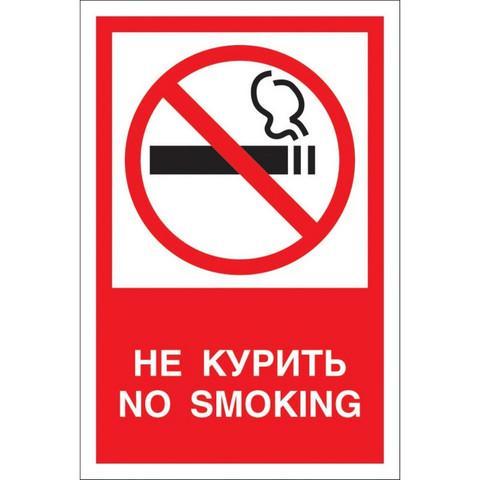 Знак безопасности V51 Запрещается курить! (пластик 200х150)
