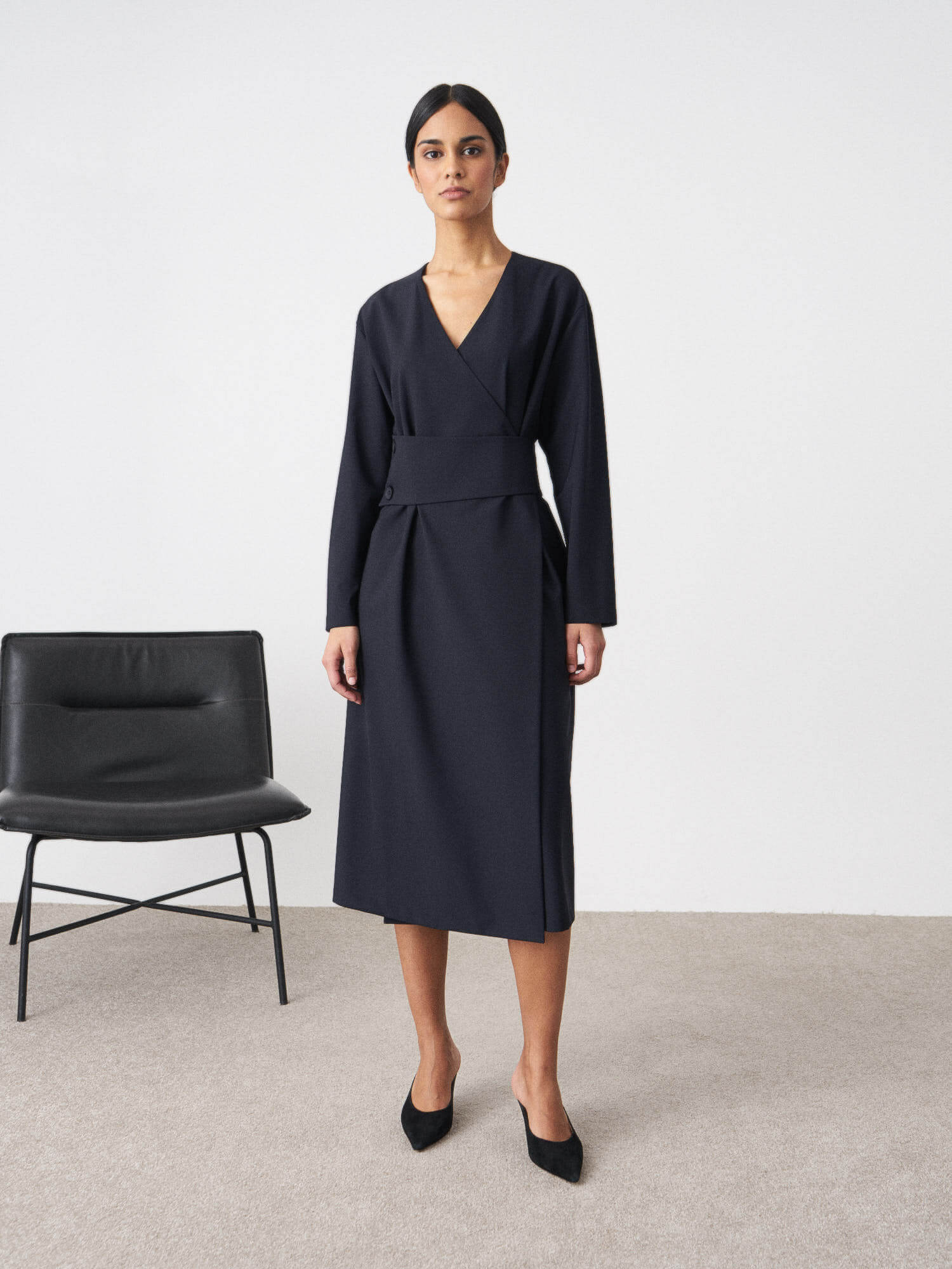 Платье Stefani с широким поясом