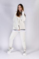 Белый спортивный костюм женский на флисе Nadya