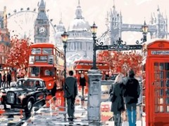 Картина по номерам  «Лондонская суета» 40x50см