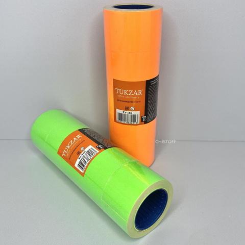 Ценники Tukzar 25х35 мм (6м/220 шт.) (5 роликов) цветные