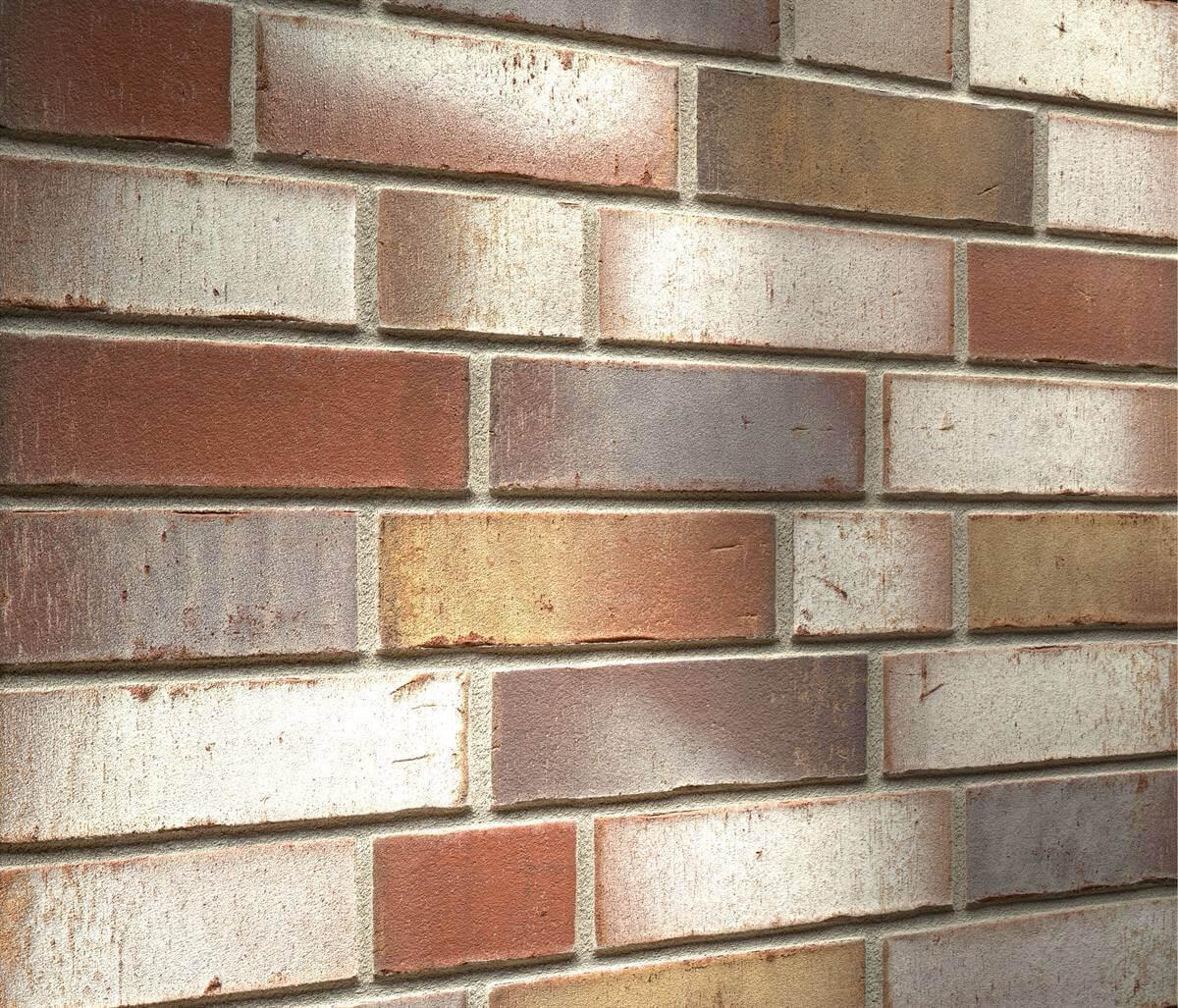 Feldhaus Klinker - R921NF14, Vario Ardor Trecolora, 240х71х14 - Клинкерная плитка для фасада и внутренней отделки