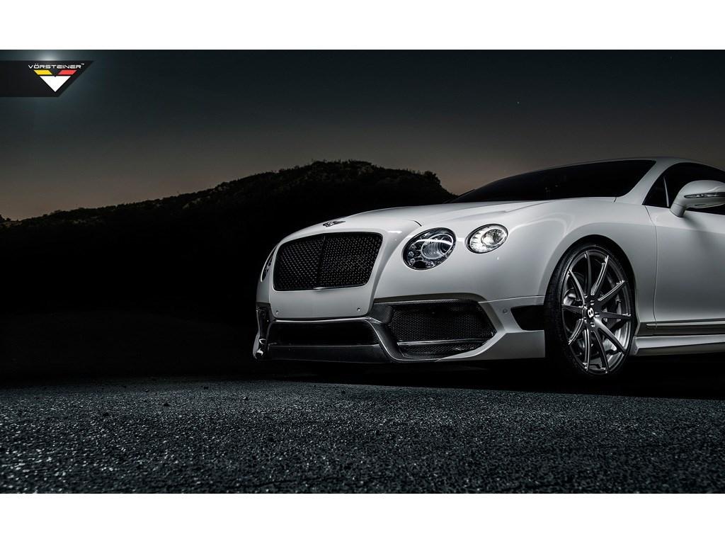 Карбоновый передний бампер Vorsteiner Style для Bentley Continental