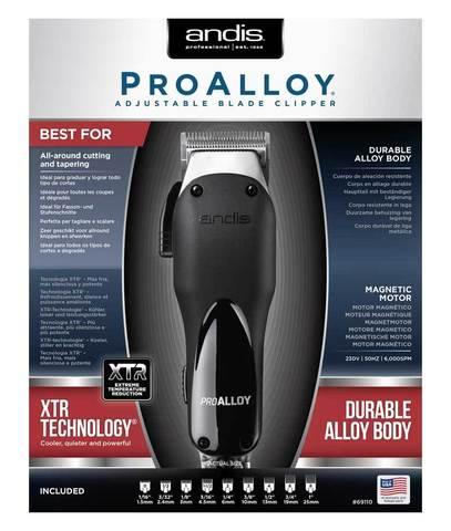 Машинка для стрижки Andis AAC-1 Pro Alloy, сетевая, 8 Вт, 9 насадок, черная