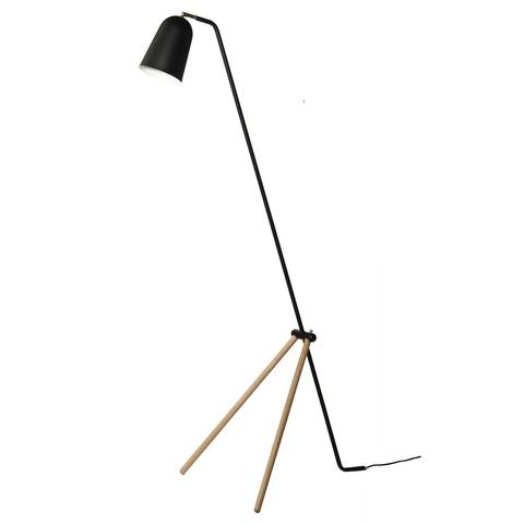 Лампа напольная Giraffe, дуб, черное матовое основание