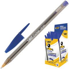 Ручка шариковая одноразовая BIC Cristal синяя (толщина линии 1.2 мм)