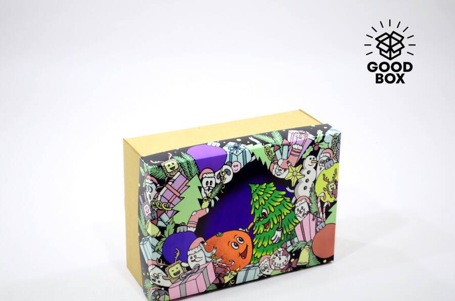 Крутая и необычная Новогодняя коробка с доставкой по Казахстану