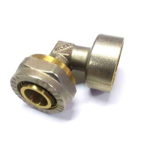 Угол переходной для металлопластиковых труб  20*3/4 внутренняя резьба Valve
