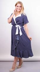 Агата. Легка сукня для великих розмірів. Смуга.
