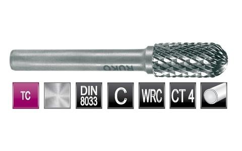 Бор-фреза твердосплавная C(WRC) 8,0х16x6x56мм HM Ruko 116021 (В)