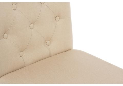 Стул деревянный кухонный, обеденный, для гостиной Amelia white / fabric cream 45*45*95 Белый /Бежевый
