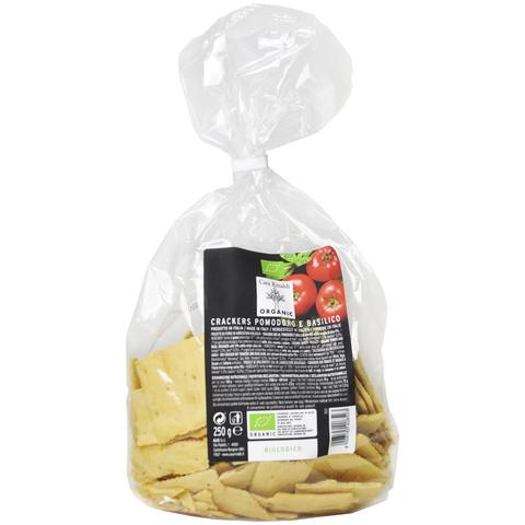 Хлебцы Крекеры с помидорами, базиликом и оливковым  маслом EV ORGANIC Casa Rinaldi 250 г