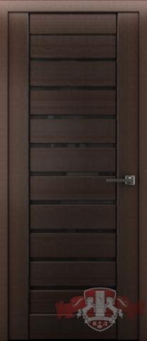 Дверь Л3ПГ4 стекло черное (венге, остекленная экошпон), фабрика Владимирская фабрика дверей
