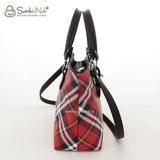 Сумка Саломея 457 шотландский красный + черный