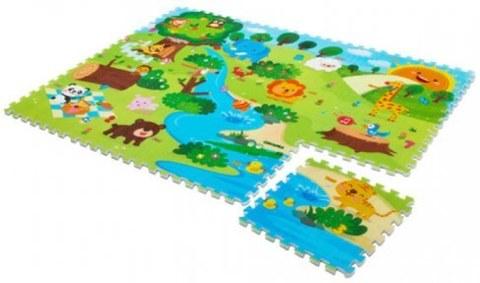 Развивающий коврик-пазл Mambobaby Животный мир двухсторонний 70009