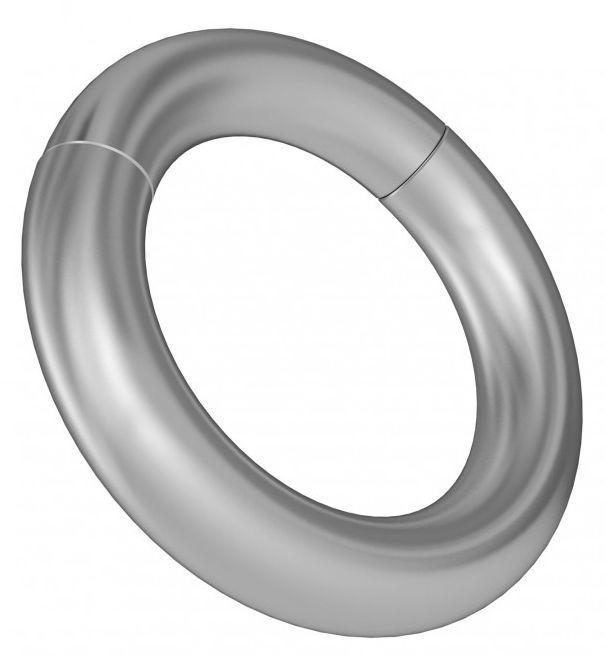 Круглое серебристое магнитное кольцо-утяжелитель