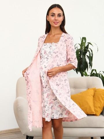 Мамаландия. Комплект для беременных и кормящих, бабочки/розовый