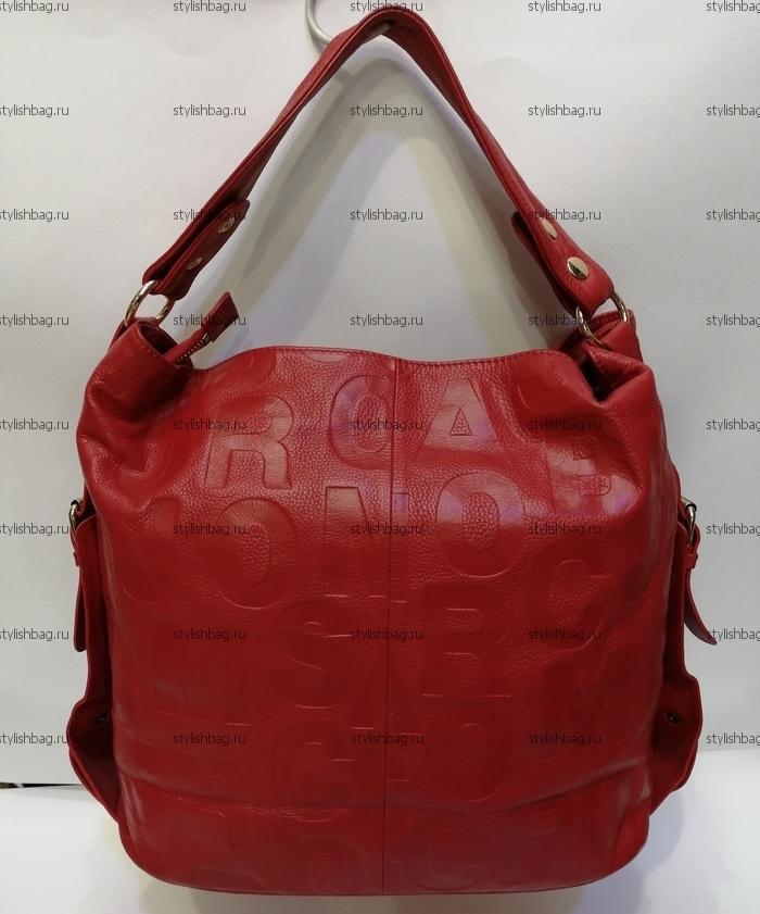Красная женская сумка из кожи NF190903