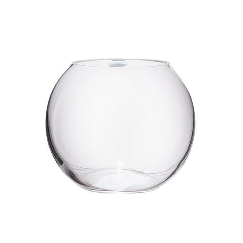 Ваза Шар стекло прозрачная высота изделия 18 см