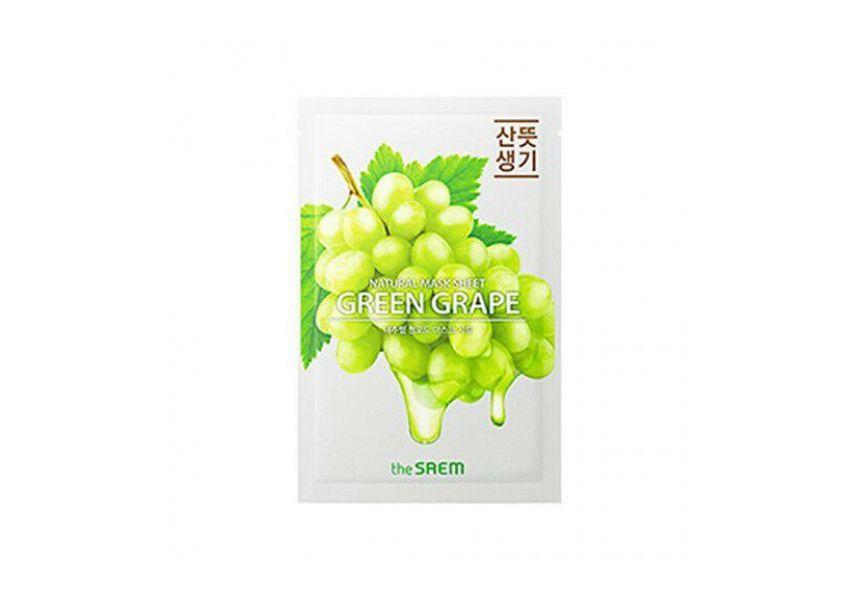 """Тканевые Маска СМ4509 """"СМ на тканевой основе для лица N с экстрактом винограда Natural Green Grape Mask Sheet 21мл"""" Маска_СМ4509_СМ_на_тканевой_основе_для_лица_N_с_экстрактом_винограда_Natural_Green_Grape_Mask_Sh.jpg"""