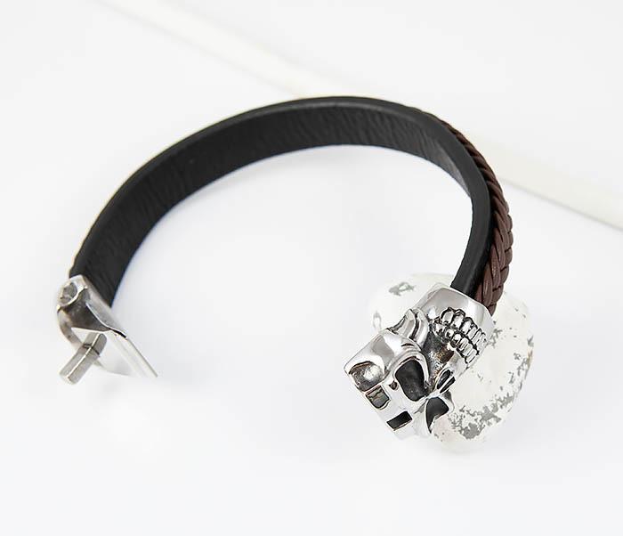 BM508 Мужской браслет с огромным черепом (22 см) фото 02