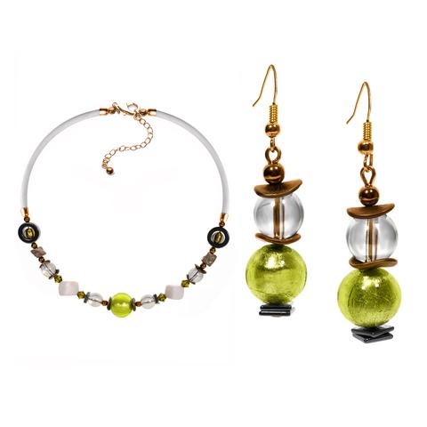 Комплект ожерелье и серьги Eleganza цвет 20A