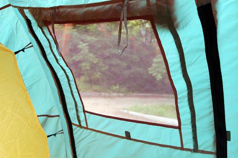 Палатка Canadian Camper TANGA 5, цвет woodland, окно в тамбуре.