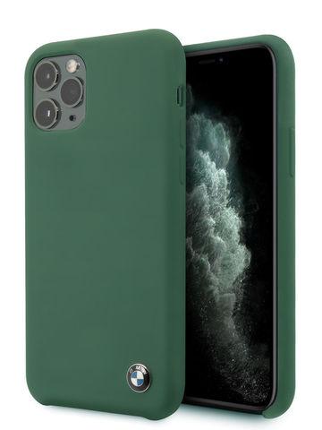 BMW / чехол для телефона iPhone 11 Pro Max | Signature Liquid silicone Hard Midnight green