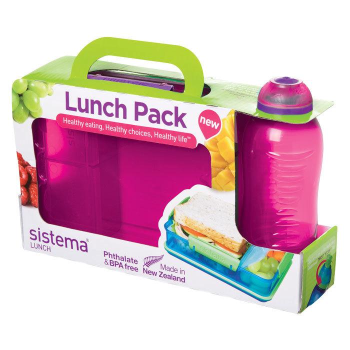 "Набор Sistema ""Lunch"": ланч-бокс и бутылка, цвет Розовый"