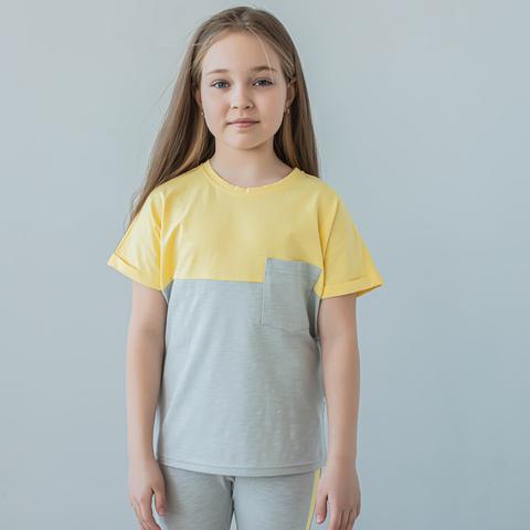 Duo T-shirt for teens - Ashy