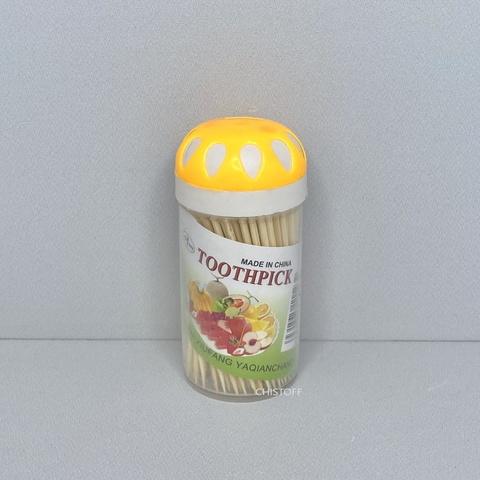 Зубочистки в пластиковой упаковке (100 шт.)