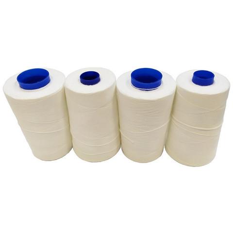Нить прошивная лавсановая ЛШ 170 белая (1000 метров), 4шт./упак