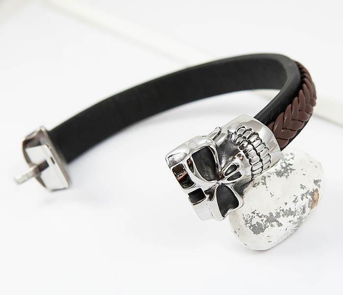 BM508 Мужской браслет с огромным черепом (22 см) фото 03