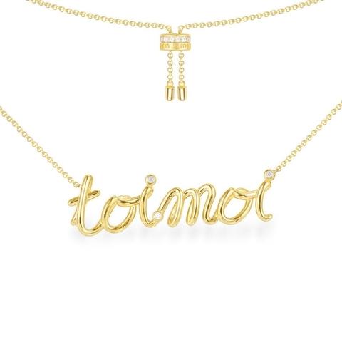 Колье Toi et Moi из серебра с лимонной позолотой Apm Monaco