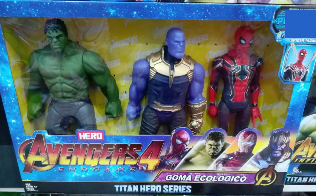 Набор из трёх супер-героев