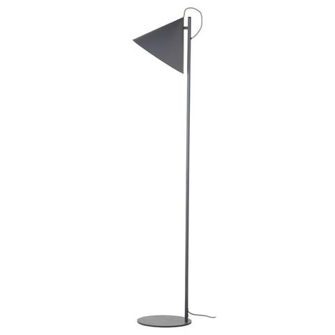 Лампа напольная Benjamin, серая матовая, серый шнур