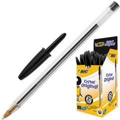 Ручка шариковая одноразовая BIC Cristal черная (толщина линии 0.4 мм)