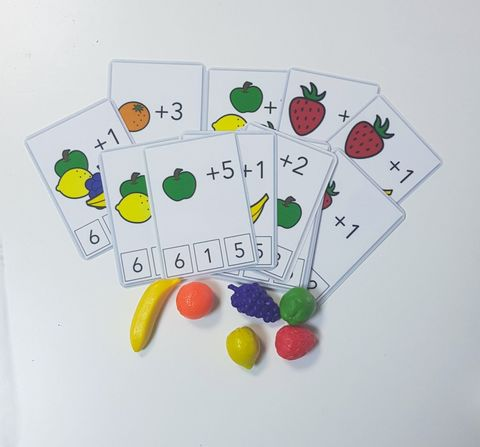 Счёт с фруктами. Фигурки фруктов в комплекте. Развивающие пособия на липучках Frenchoponcho (Френчопончо)