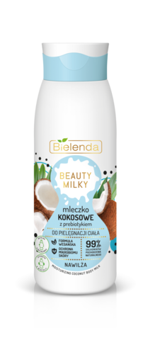 BIELENDA BEAUTY MILKY Кокосовое молочко для тела с пребиотиком 400мл